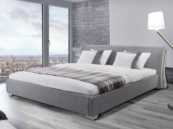 BELIANI - lit à eau paris gris 160x200 cm - Cama De Agua