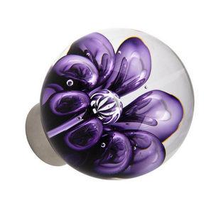 Les Verreries De Brehat - bulles de fleurs sphérique - Botón De Puerta