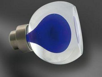 Les Verreries De Brehat - alberto non cannelé bleu - Botón De Puerta