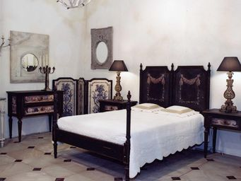 PROVENCE ET FILS - lit coquillages / couchage 140 x 190 / s�rigraphie - Cama De Matrimonio