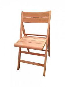 WHITE LABEL - chaise pliante robert blanche. - Silla Plegable