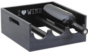 Aubry-Gaspard - porte bouteilles bois i love wine - Botellero