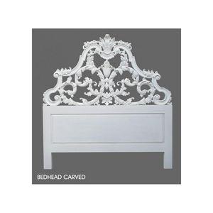 DECO PRIVE - tête de lit 180 cm en bois blanc sculptée - Cabecera