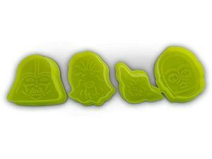 WHITE LABEL - 4 emporte-pièces biscuit en forme des personnages  - Molde Para Pasteles