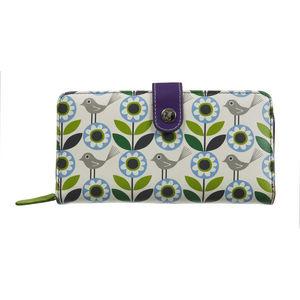 NICKY JAMES - bloom green zip around purse - Monedero