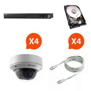 CFP SECURITE - pack nvr hd 4 caméras vision nocture hik vision - Cámara De Vigilancia