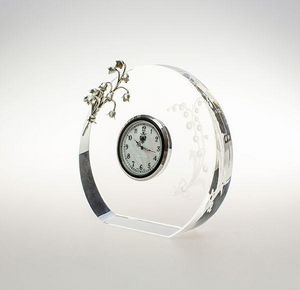 TSAR IMPERIAL - lilies of the valley clock - Reloj De Apoyo