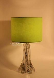L'ATELIER DES ABAT-JOUR - cylindrique vert - Pantalla
