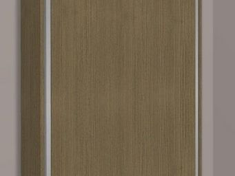 WHITE LABEL - armoire lit escamotable cronos, ch�ne taupe. matel - Armario Cama