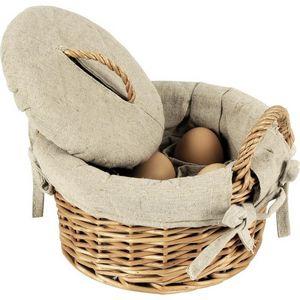 Aubry-Gaspard - panier à oeufs en osier clair - Cesta Para Huevos