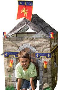 Traditional Garden Games - tente de jeu chevalier avec accessoires 78x78x115c - Tienda De Niño