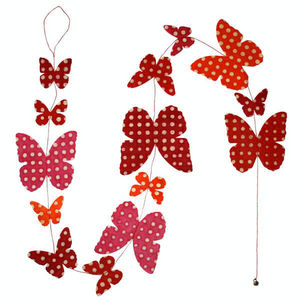 Lamali - guirlande papillon en papier lokta fait main 150cm - Guirnalda Para Niños