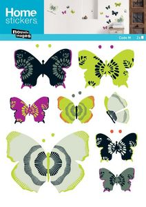Nouvelles Images - sticker mural papillon - Adhesivo Decorativo Para Niño