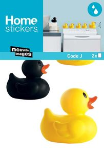 Nouvelles Images - sticker mural famille canard sdb - Adhesivo