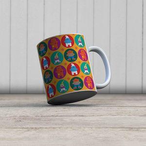 la Magie dans l'Image - mug heros pattern orange - Taza