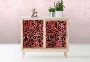 la Magie dans l'Image - adhésif plantes rouges - Adhesivo