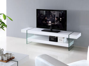 WHITE LABEL - meuble tv jade - Mueble Tv Hi Fi