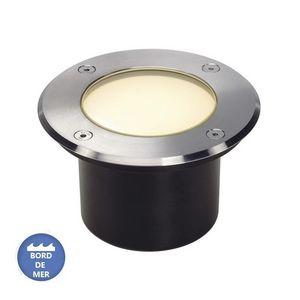 SLV - eclairage terrasse encastrable dasar flat inox 316 - Luz Para Empotrar En El Suelo