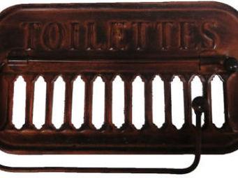 Antic Line Creations - support papier toilette ancien métal rouille - Portapapel Higiénico