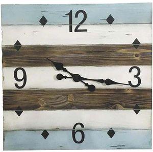 Aubry-Gaspard - horloge en bois carrée bord de mer - Reloj De Pared