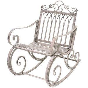 CHEMIN DE CAMPAGNE - fauteuil banc rocking chair en fer de jardin 95 cm - Mecedora