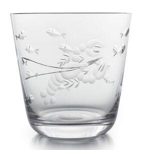 Rotter Glas - sealife - Vaso