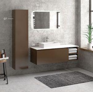 ITAL BAINS DESIGN - space 135 melamine - Mueble De Cuarto De Baño