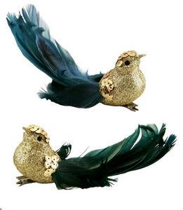 Graham & Green - gold bird - Decoración Mesa De Navidad