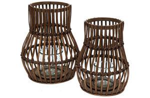 BYROOM - bamboo lantern brown - Portavelas Para Exterior