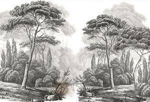 Ananbô - mistral grisaille - Papel Pintado Panorámico