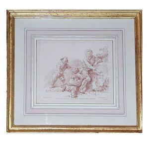 La Maison Du Cadre depuis 1933 - lavis rose - Marco