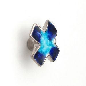 La Quincaillerie - croix bleue - Botón De Mueble Y Armario