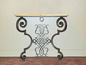 Galerie Chastel Marechal - console en fer forgé de poillerat - Consola