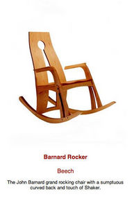 John Barnard Furniture - claire rocker chair 1006 - Mecedora