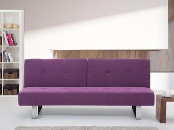 BELIANI - dublin violet - Sofá Cama Clic Clac
