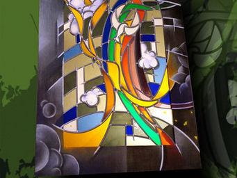 Atelier 1..2..3 vitrail - présence - Vidriera