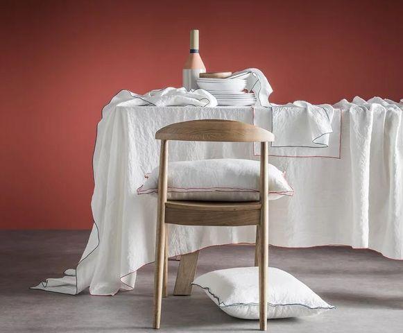BLANC CERISE - Mantel rectangular-BLANC CERISE-: Autour du lin
