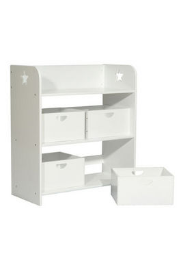 Miliboo - Estantería para niños-Miliboo-ETOILE RANGEMENT 4 BOX BLANC