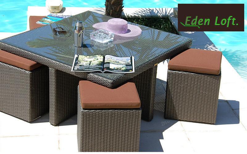 EDEN LOFT Set tavolo e sedie da giardino Tavoli da giardino Giardino Arredo  |