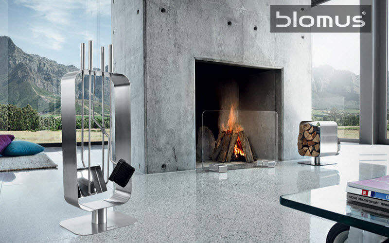Blomus Porta-attrezzi per camino Accessori per camini Camino Salotto-Bar | Design Contemporaneo