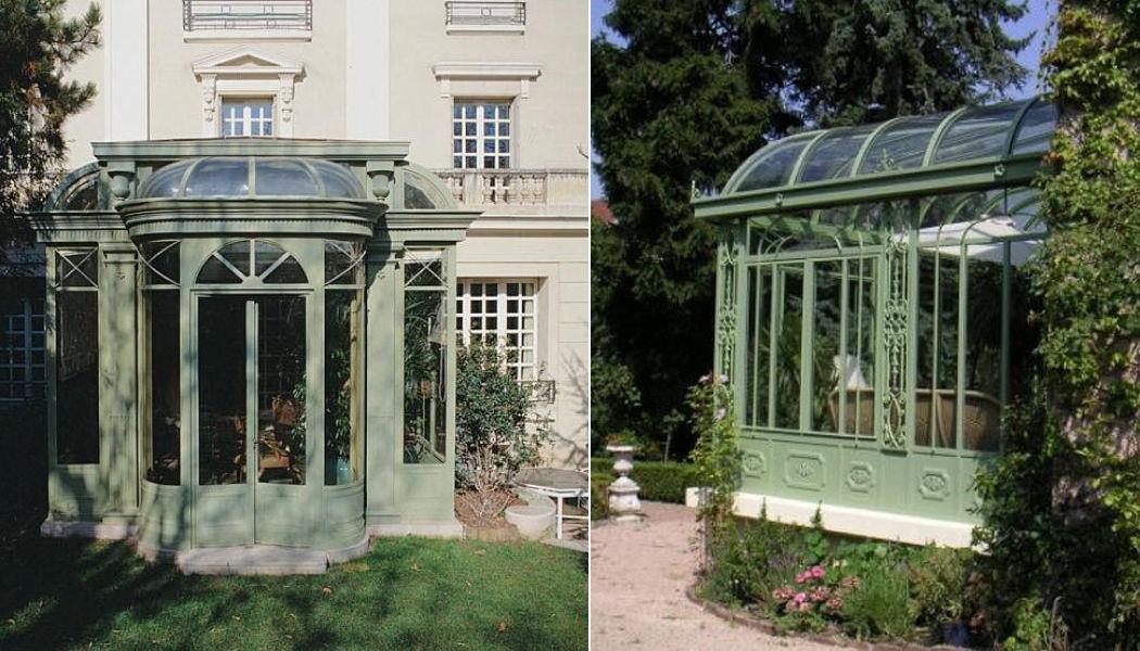 LUCIEN LONGUEVILLE Veranda Verande Giardino Tettoie Cancelli... Giardino-Piscina | Classico