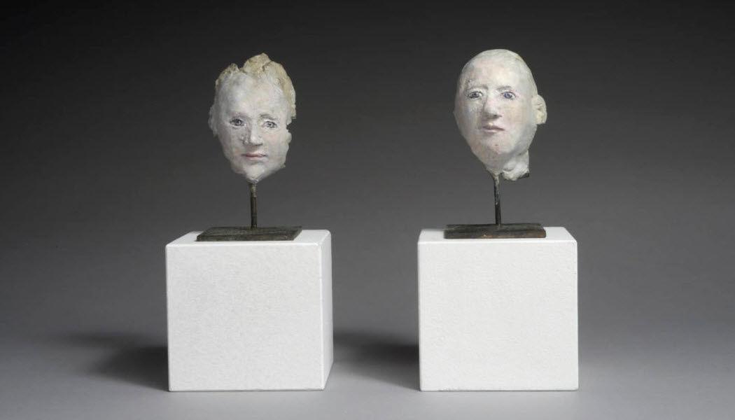 AGNÈS BAILLON Scultura testa umana Statue Arte  |