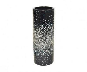 Demeure et Jardin - vase rouleau ceramique noir et coquille d'oeuf - Vaso Da Fiori