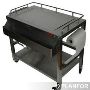 SPECI - chariot à plancha inox speci - Piastra Per Barbecue
