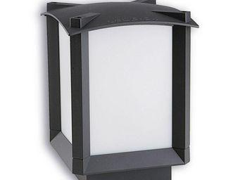 Leds C4 - borne carrée lumineuse mark 16 cm h22 cm - Lampada Segnapasso Da Esterno