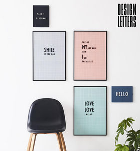 DESIGN LETTERS -  - Quadro Decorativo