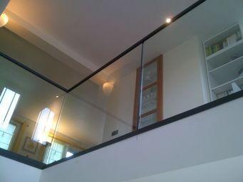 TRESCALINI - minimal : garde-corps verre (et acier) - Parapetto