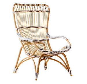 Sika design - fauteuil chantal en rotin et fibre 88x64x99cm - Poltrona Da Giardino