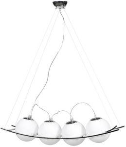 KOKOON DESIGN - suspension design balls en verre teinté blanc - Lampada A Sospensione