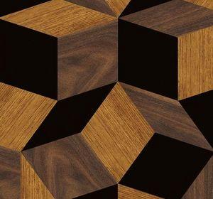 Ich&Kar - penrose wood & black - Carta Da Parati
